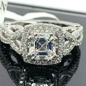 Stunning Suzy Levian CZ Ring - Sz 7.5